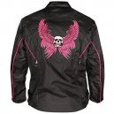 Xelement Women's Pink Winged Skull Tri-Tex Jacket.