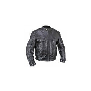 Bandit Buffalo Leather Cruiser Motorcycle Jacket with Level-3 Armor.