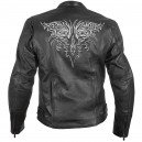 Xelement Women's Tribal Armored Collarless Motorcycle Jacket with Hoodie,